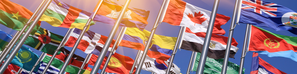 Flags-of-Nations-with-sun-rays