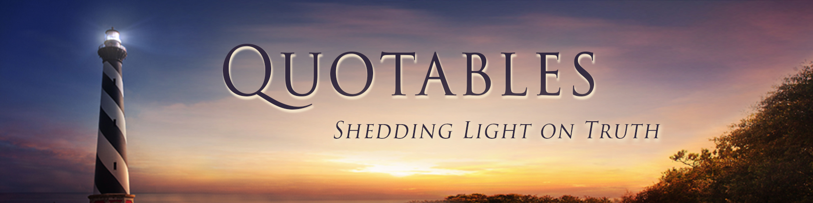 Quotables banner website lighthouse