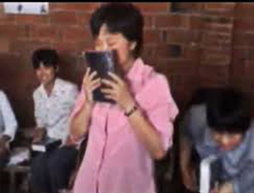 Chinese woman gets bible for the first time