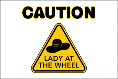 Lady at Wheel