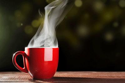 Coffee-vapor