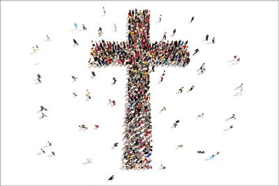 cross-and-people