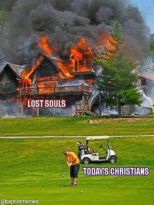 Burning-house-or-golf